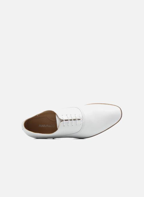 Zapatos con cordones Marvin&Co Newry Blanco vista lateral izquierda