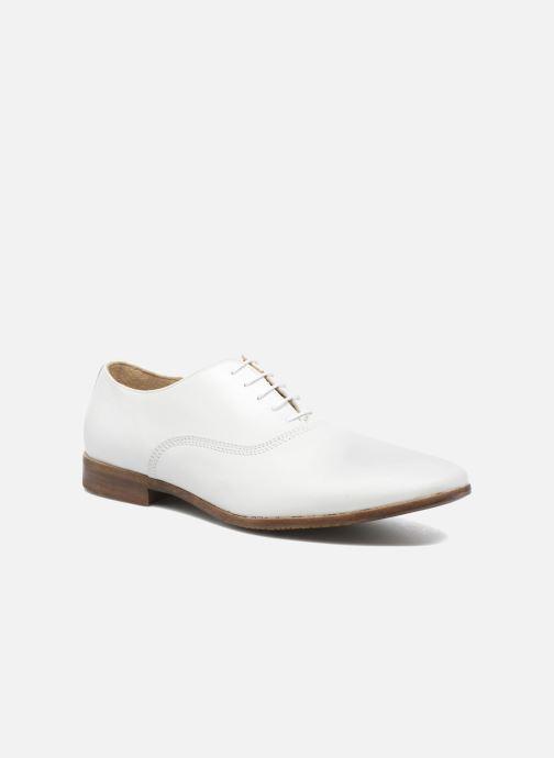 Chaussures à lacets Marvin&Co Newry Blanc vue détail/paire