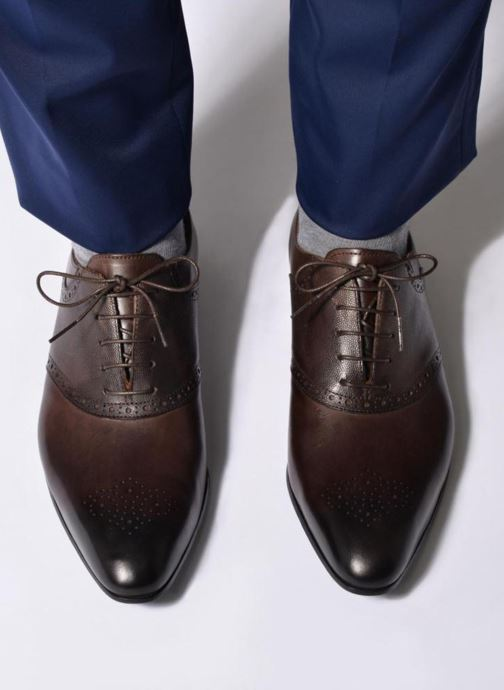 Lace-up shoes Marvin&co Newquay Blue view from underneath / model view