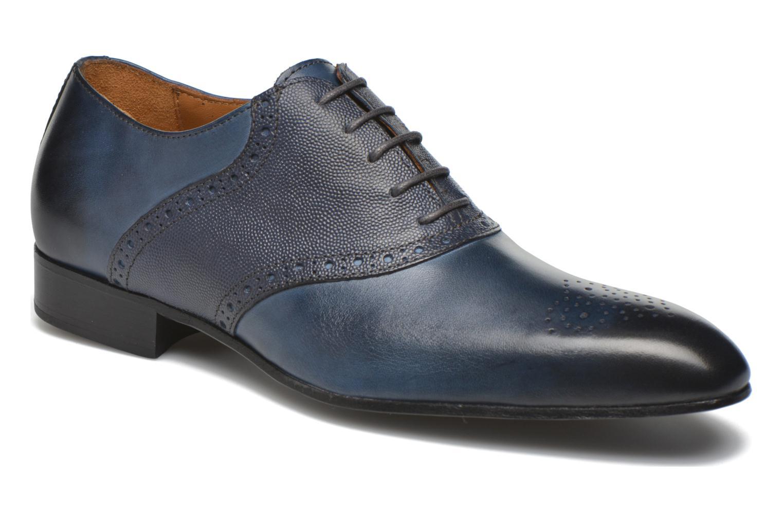 Veterschoenen Marvin&Co Newquay Blauw detail