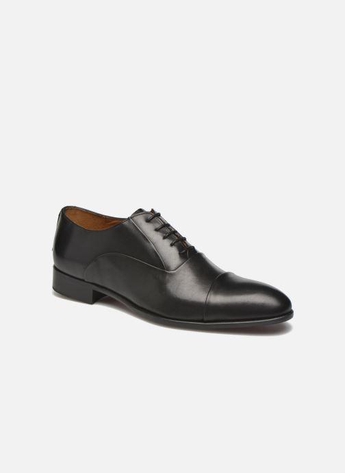 Snøresko Marvin&Co Norwood Sort detaljeret billede af skoene