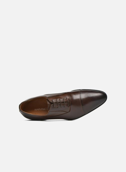 Lace-up shoes Marvin&co Norwood Brown view from the left