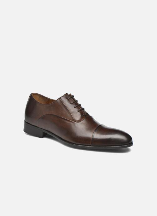 Snøresko Marvin&Co Norwood Brun detaljeret billede af skoene