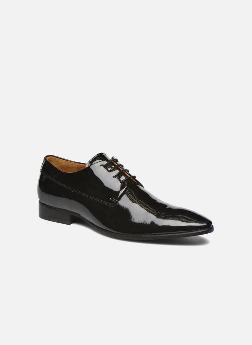 Snøresko Marvin&Co Notton Sort detaljeret billede af skoene