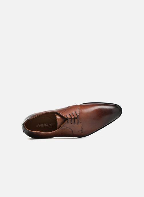 Zapatos con cordones Marvin&Co Needham Marrón vista lateral izquierda
