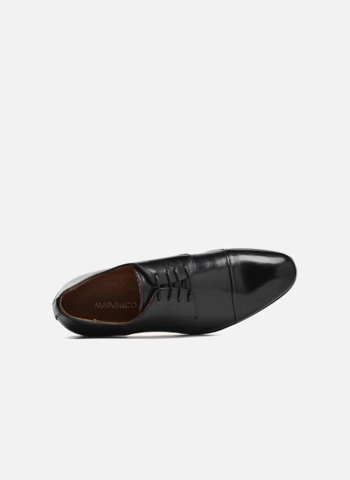 Zapatos con cordones Marvin&Co Newhaven Negro vista lateral izquierda