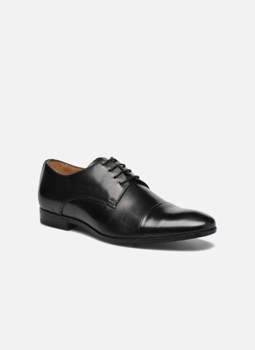 Snøresko Marvin&Co Newhaven Sort detaljeret billede af skoene
