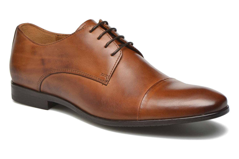 Snøresko Marvin&Co Newhaven Brun detaljeret billede af skoene