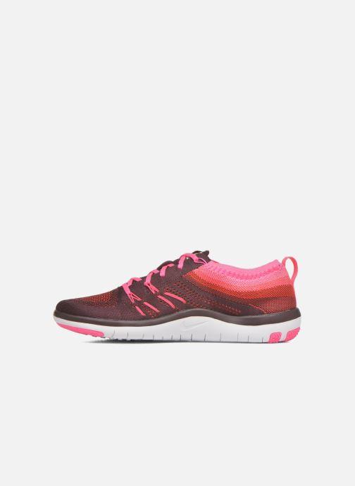 Chaussures de sport Nike W Nike Free Tr Focus Flyknit Bordeaux vue face