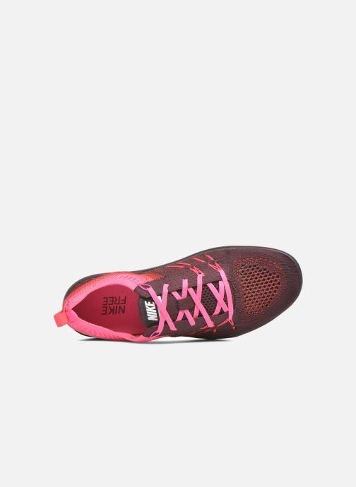 Chaussures de sport Nike W Nike Free Tr Focus Flyknit Bordeaux vue gauche