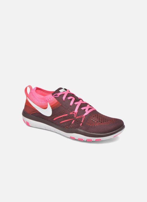 Chaussures de sport Nike W Nike Free Tr Focus Flyknit Bordeaux vue détail/paire