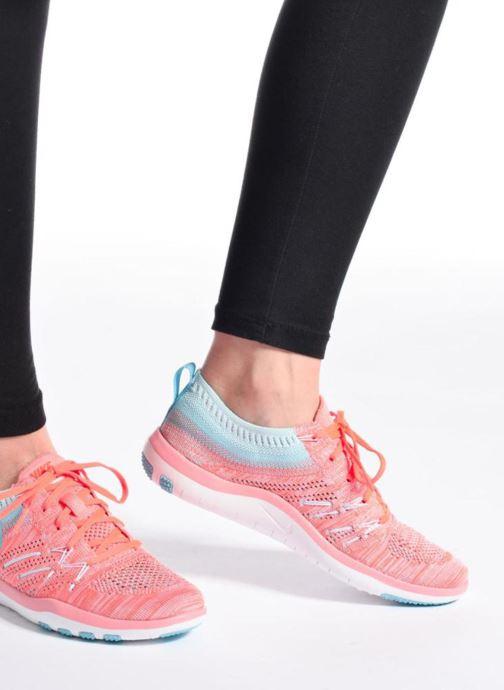 Chaussures de sport Nike W Nike Free Tr Focus Flyknit Orange vue bas / vue portée sac