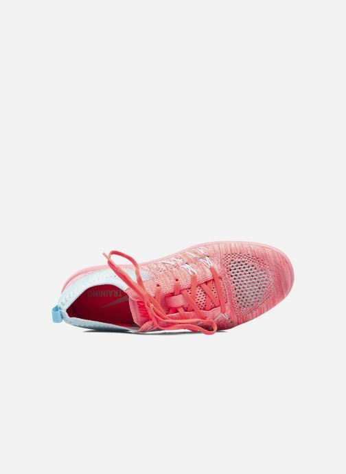 Chaussures de sport Nike W Nike Free Tr Focus Flyknit Orange vue gauche