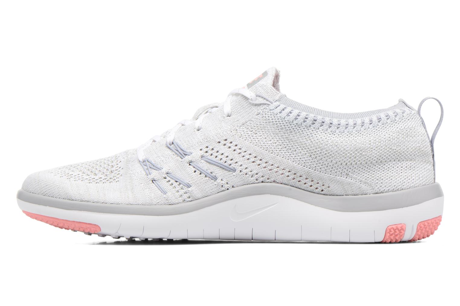 Chaussures de sport Nike W Nike Free Tr Focus Flyknit Blanc vue face