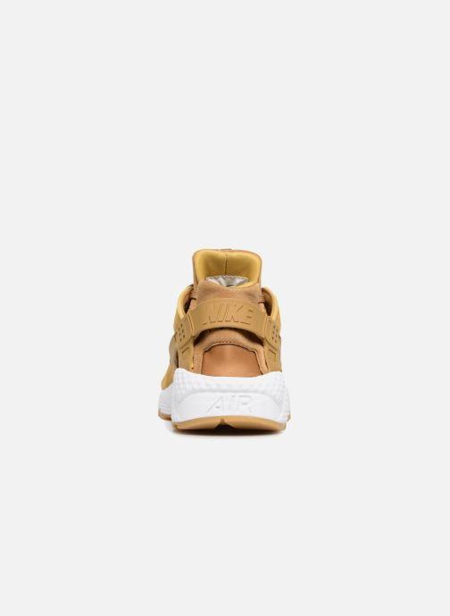 Baskets Nike Wmns Air Huarache Run Prm Jaune vue droite