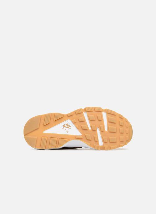 Baskets Nike Wmns Air Huarache Run Prm Jaune vue haut