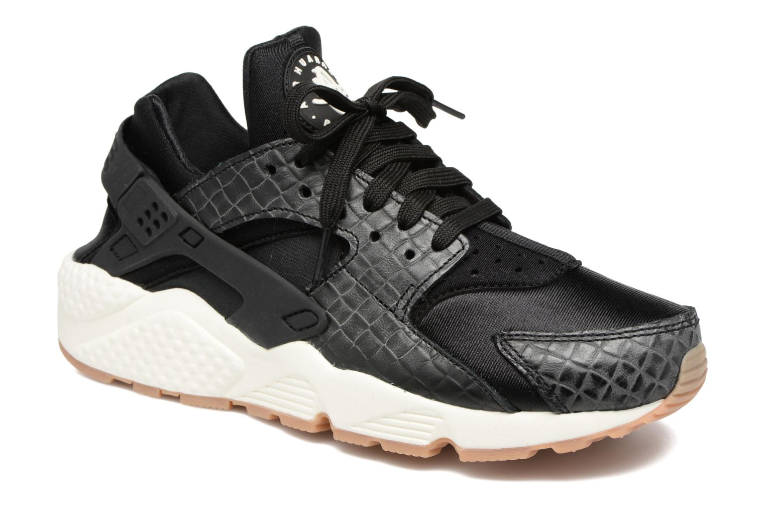 Sneakers Nike Wmns Air Huarache Run Prm Zwart detail
