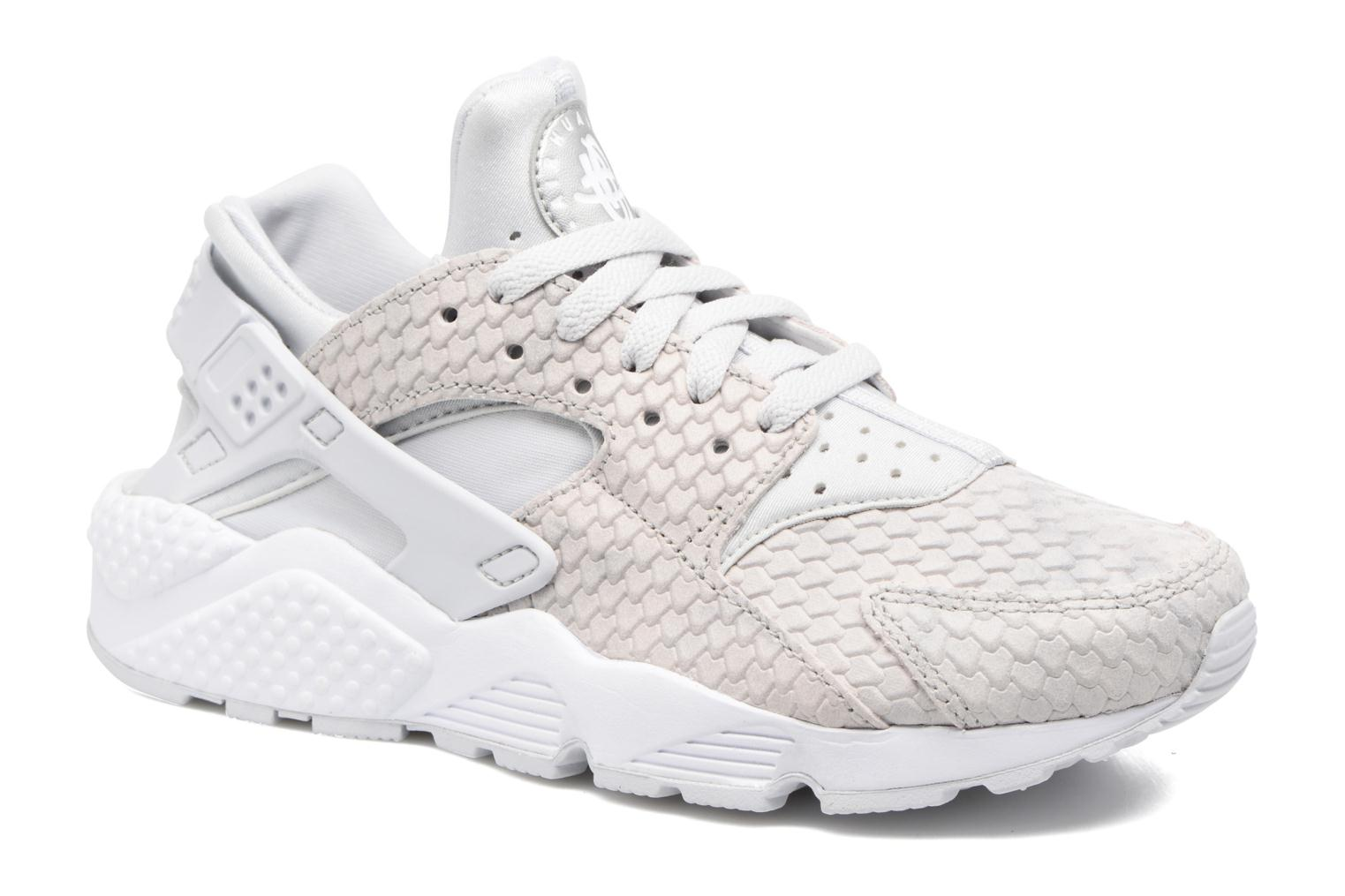 Baskets Nike Wmns Air Huarache Run Prm Blanc vue détail/paire