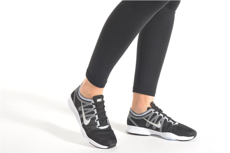 Chaussures de sport Nike Wmns Nike Air Zoom Fit 2 Noir vue bas / vue portée sac