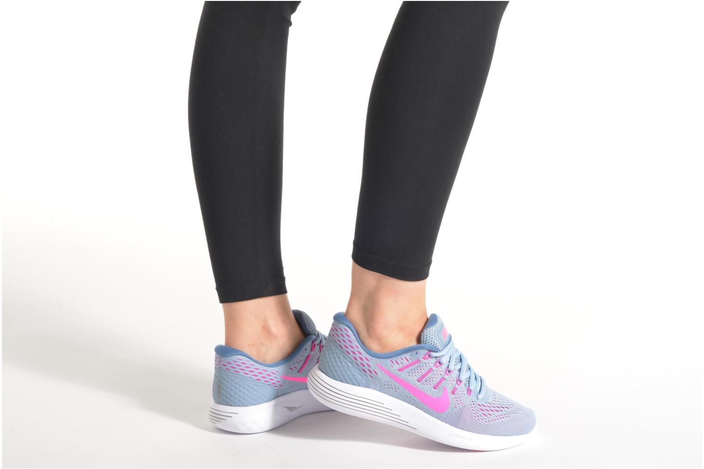 Chaussures de sport Nike Wmns Nike Lunarglide 8 Gris vue bas / vue portée sac