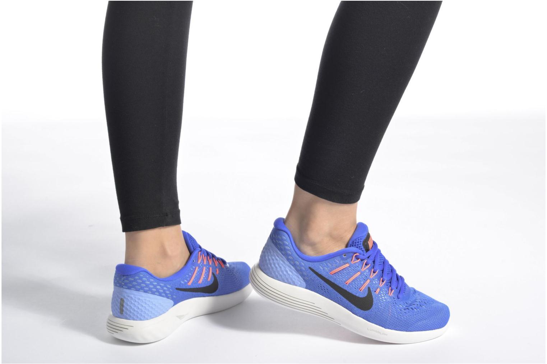 Chaussures de sport Nike Wmns Nike Lunarglide 8 Bleu vue bas / vue portée sac