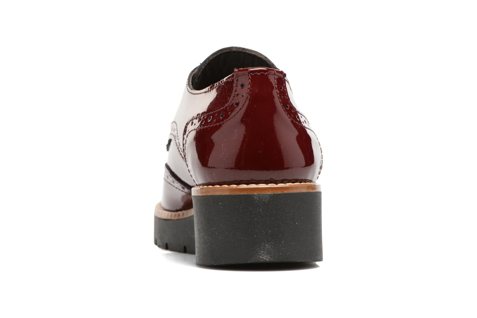 Lace-up shoes Sweet Lemon L.27.Naboli Burgundy view from the right