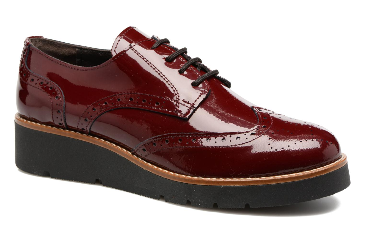 Lace-up shoes Sweet Lemon L.27.Naboli Burgundy detailed view/ Pair view