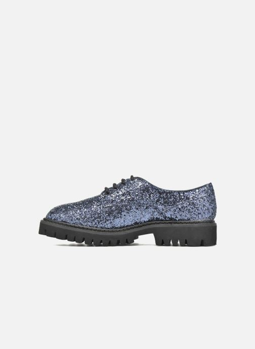 Zapatos con cordones Xti Paillettes-30324 Azul vista de frente