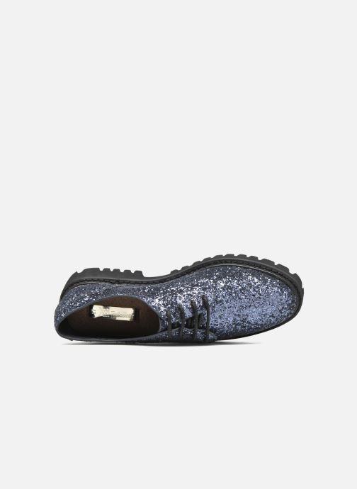 Zapatos con cordones Xti Paillettes-30324 Azul vista lateral izquierda
