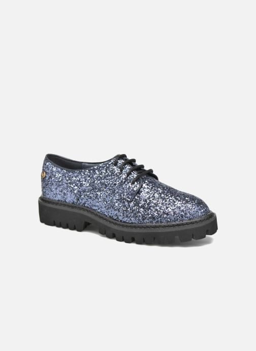 Zapatos con cordones Xti Paillettes-30324 Azul vista de detalle / par