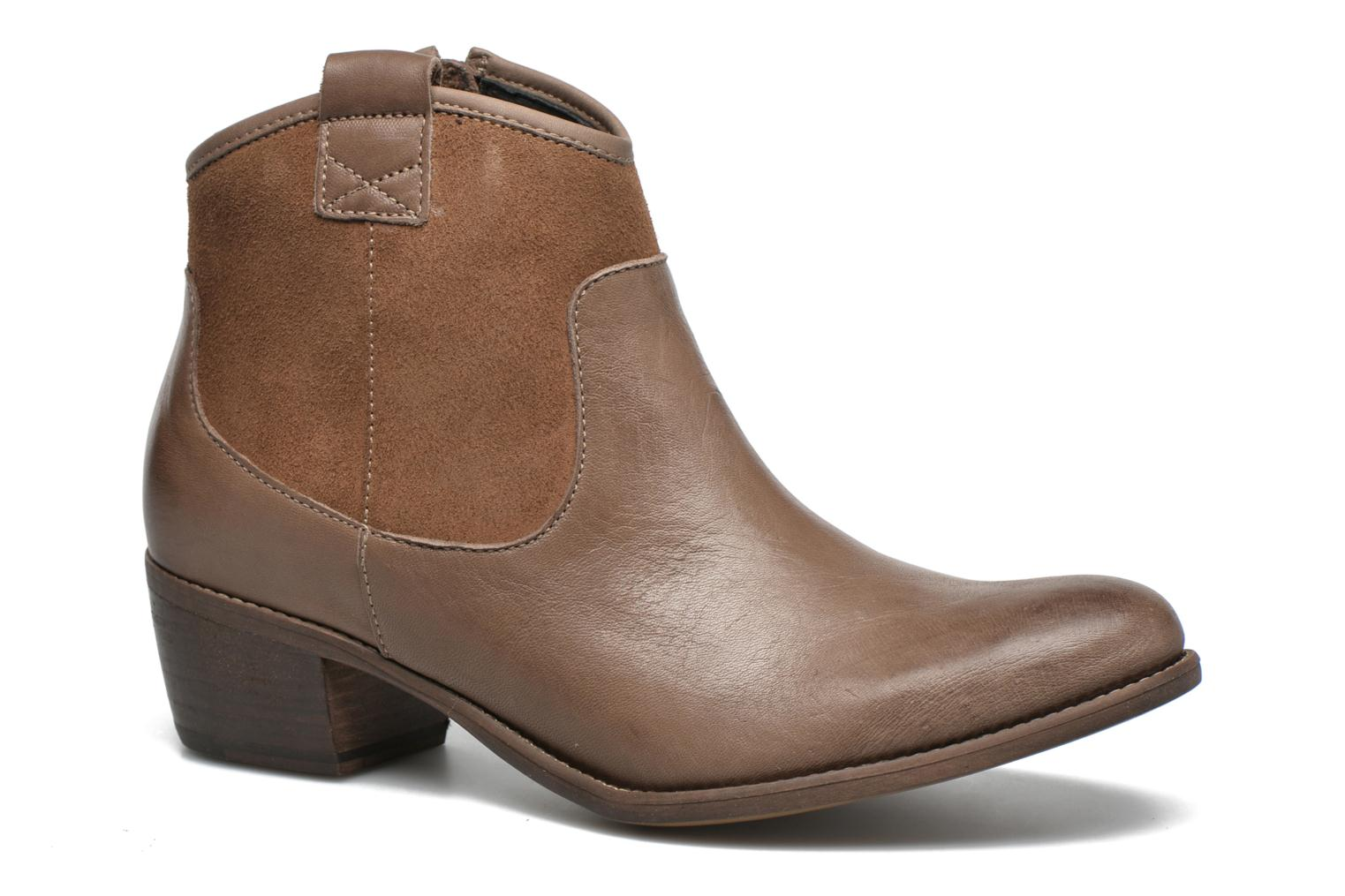 Ankle boots Georgia Rose Garok Brown detailed view/ Pair view