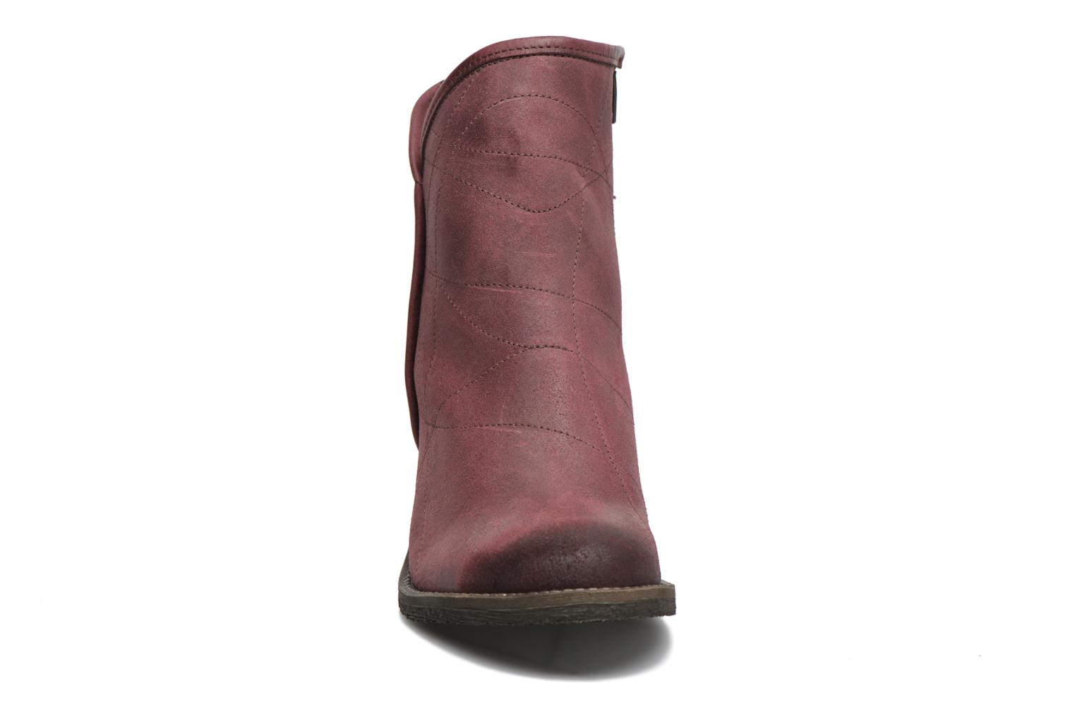 Ankle boots Dkode Lakym Burgundy model view