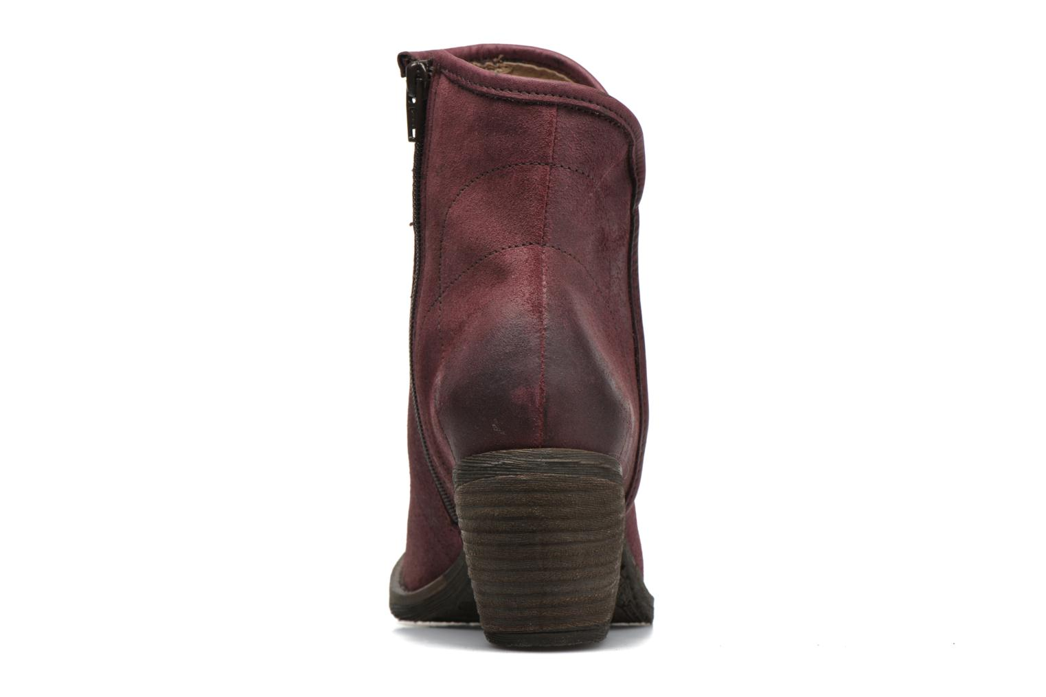 Ankle boots Dkode Lakym Burgundy view from the right