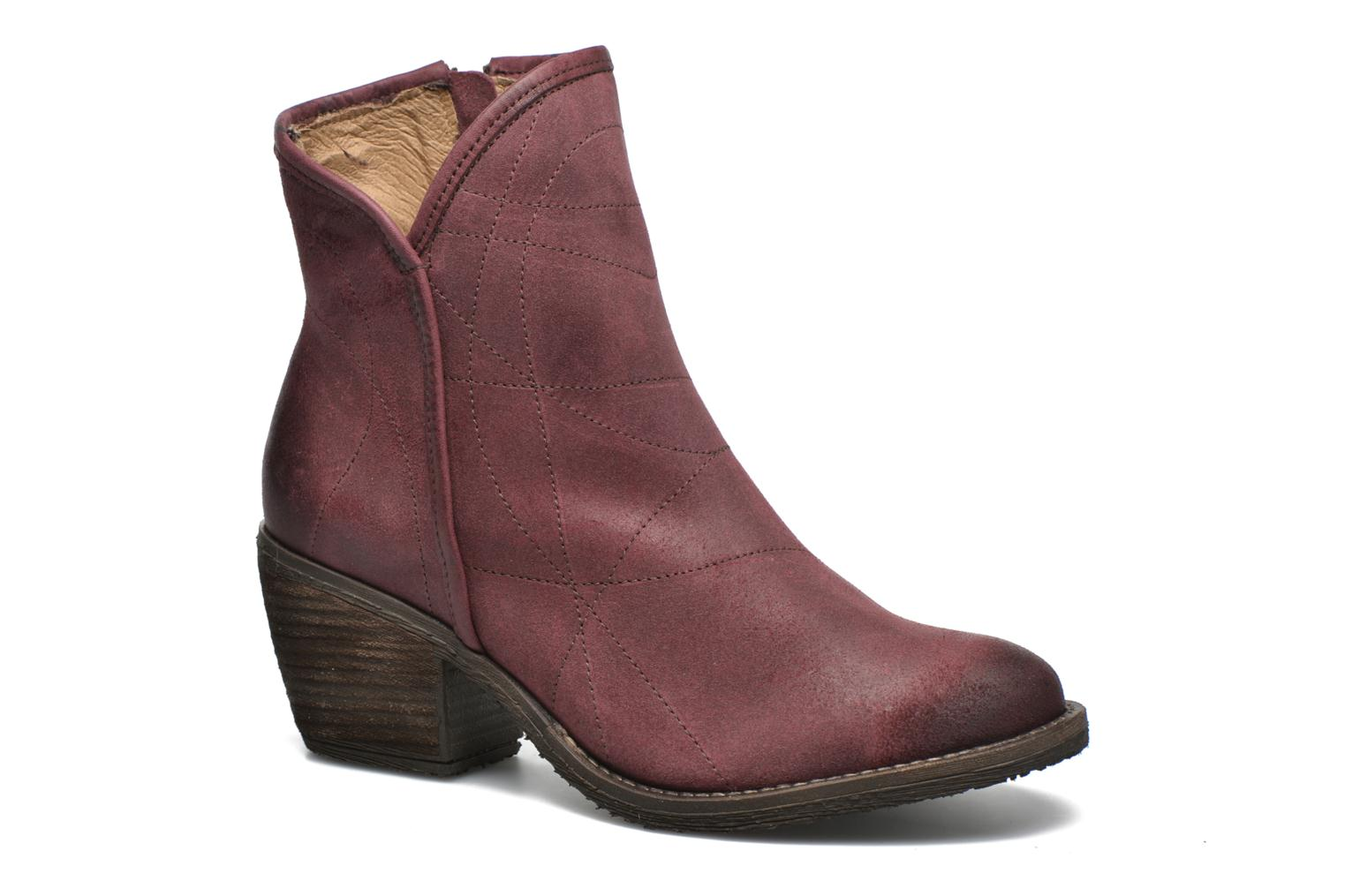 Ankle boots Dkode Lakym Burgundy detailed view/ Pair view