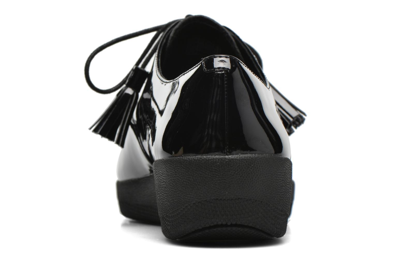 Chaussures à lacets FitFlop Classic Tassel Superoxford Noir vue droite