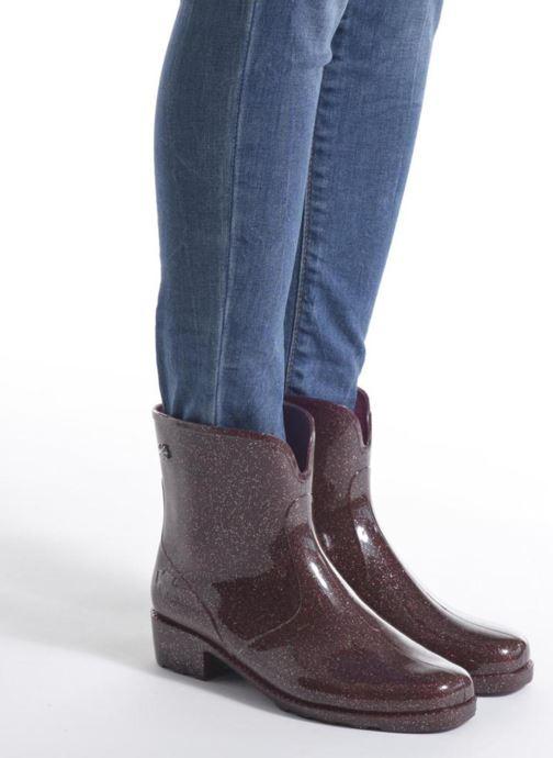 Bottines et boots Méduse Camapail Bordeaux vue bas / vue portée sac
