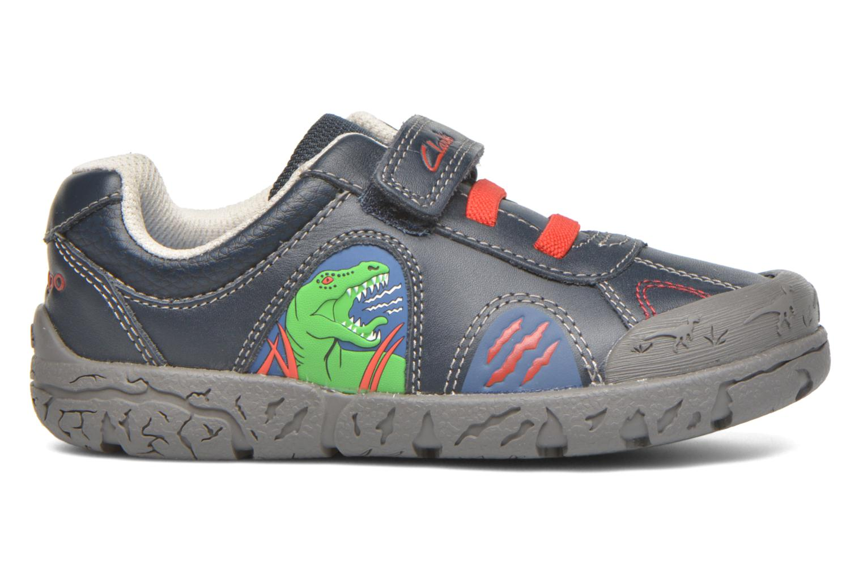 Chaussures à scratch Clarks BrontoWalk Inf Bleu vue derrière
