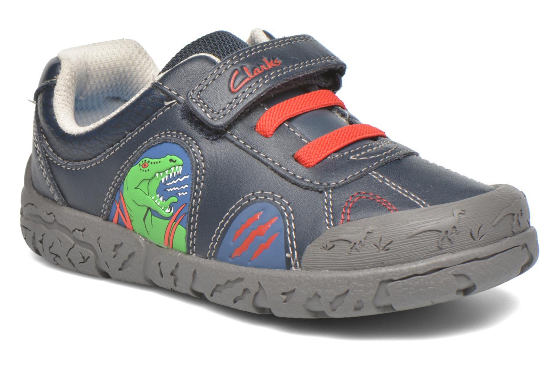 Chaussures à scratch Clarks BrontoWalk Inf Bleu vue détail/paire