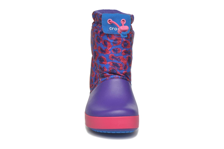 Bottes Crocs Crocband Lodgepoint Graphic K Violet vue portées chaussures