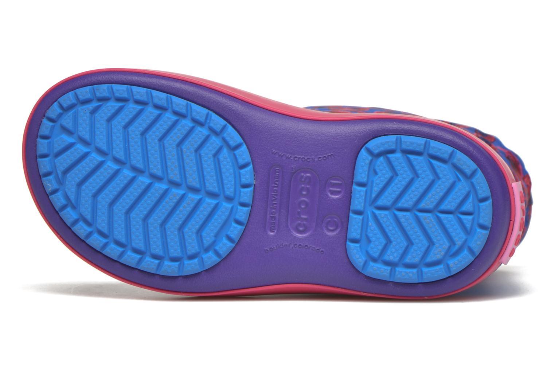 Bottes Crocs Crocband Lodgepoint Graphic K Violet vue haut