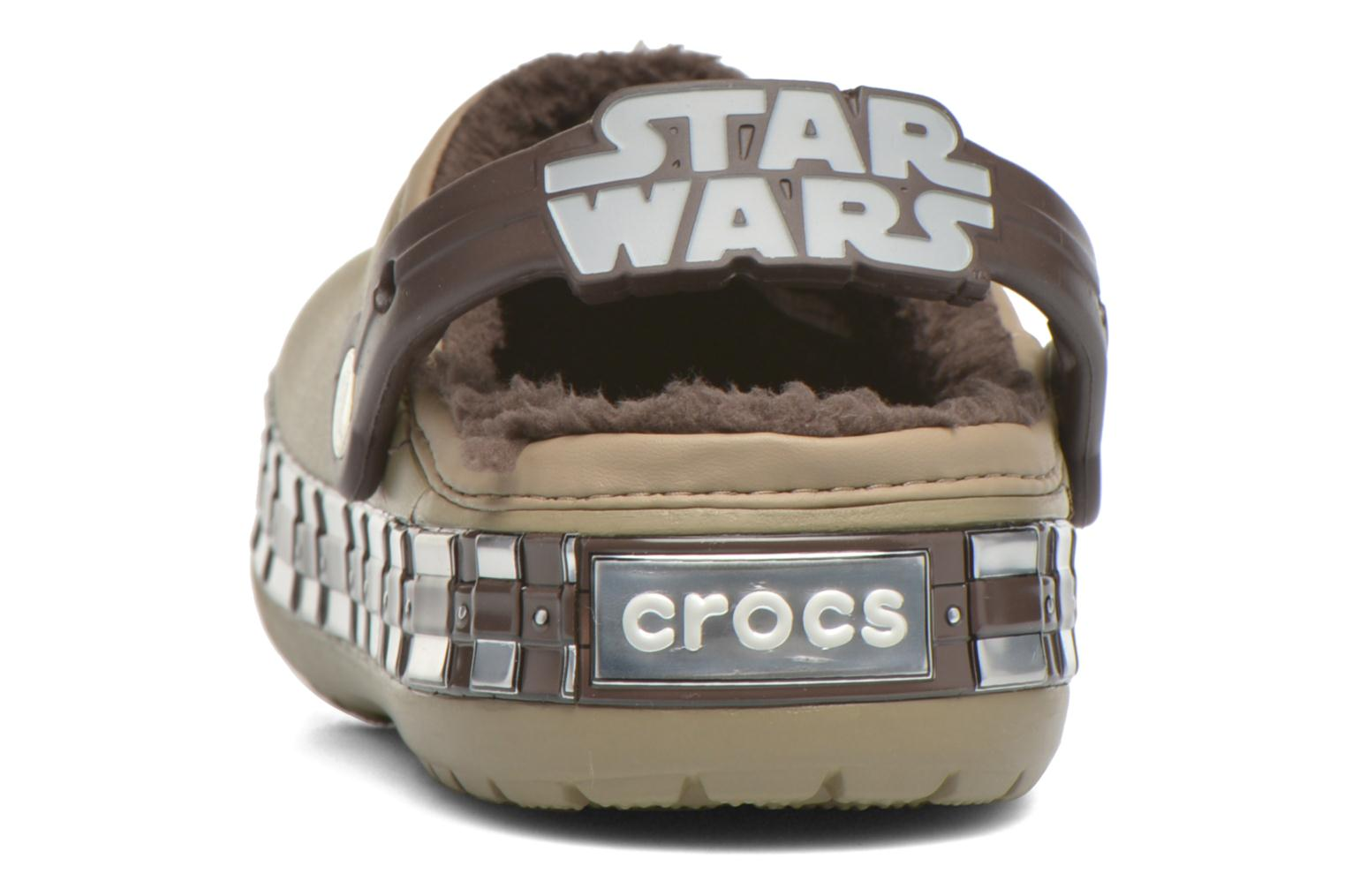 Chaussons Crocs CB Star Wars Chewbacca Lined Vert vue droite