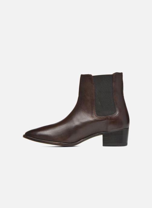 Boots en enkellaarsjes Frye Dara Chelsea Bruin voorkant