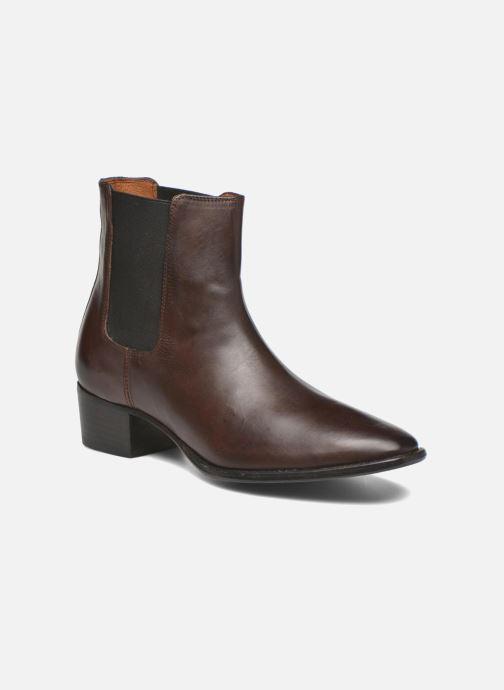 Bottines et boots Frye Dara Chelsea Marron vue détail/paire