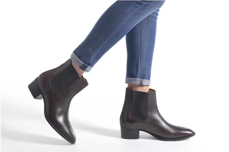 Bottines et boots Frye Dara Chelsea Marron vue bas / vue portée sac