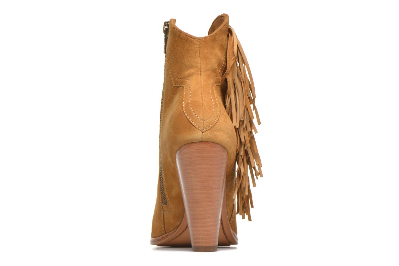 Bottines et boots Frye Remy Fringe Short Beige vue droite