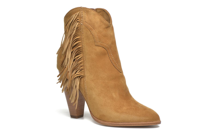 Bottines et boots Frye Remy Fringe Short Beige vue détail/paire