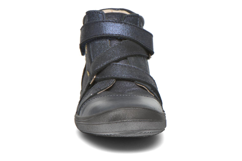 Chaussures à scratch Catimini Monarque Bleu vue portées chaussures