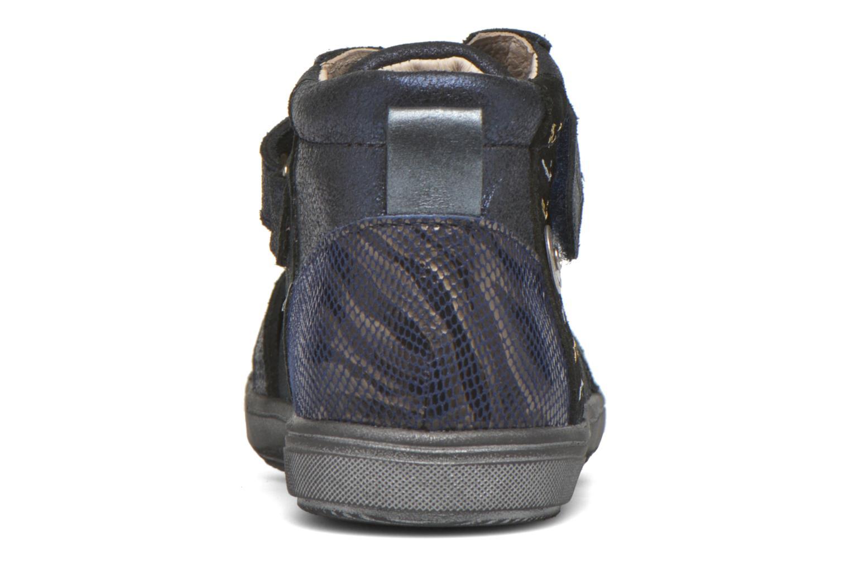 Chaussures à scratch Catimini Monarque Bleu vue droite
