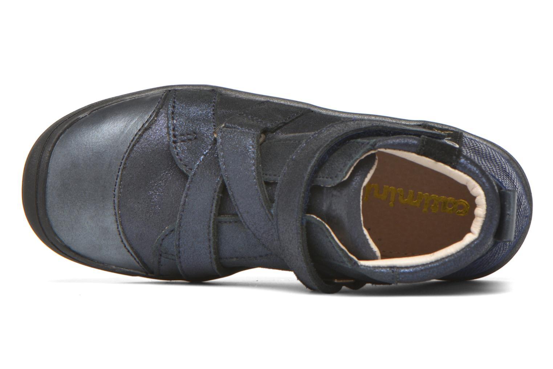 Chaussures à scratch Catimini Monarque Bleu vue gauche