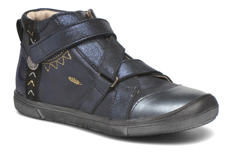 Chaussures à scratch Catimini Monarque Bleu vue détail/paire